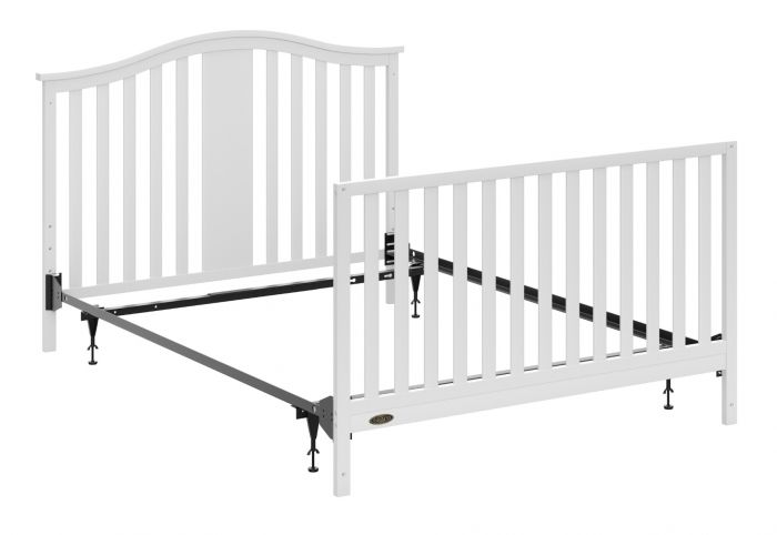 Graco Crib To Full Size Metal Frame, Baby Cribs That Convert To Queen Beds