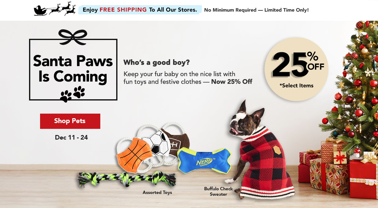 FIELDS 25% Off Pet Toys and Clothes