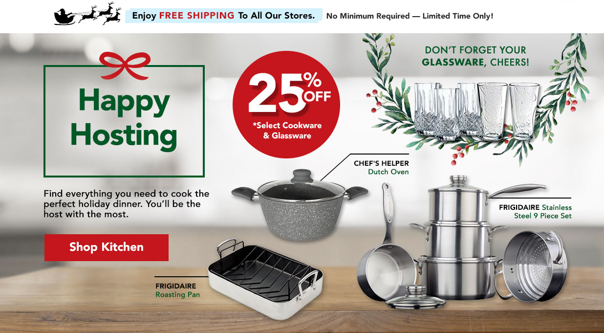 FIELDS 25 Off Cookware and Glassware