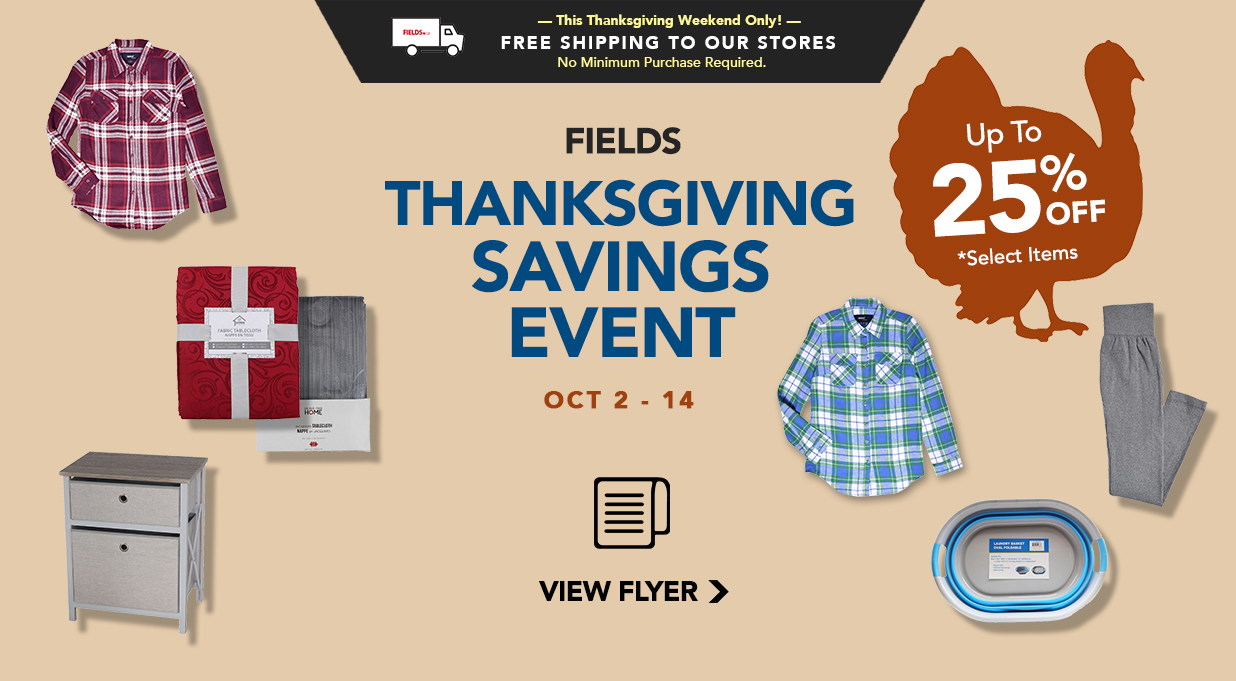 FIELDS Thanksgiving Flyer