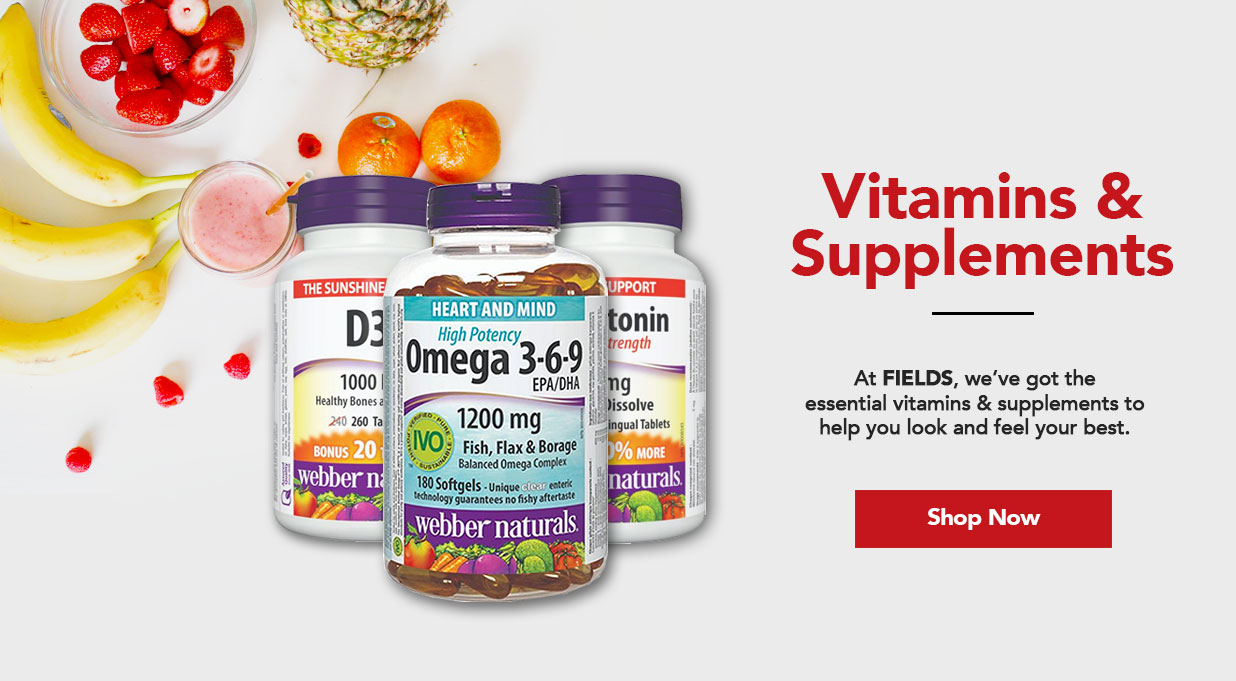 FIELDS Vitamins and Supplements Great Price
