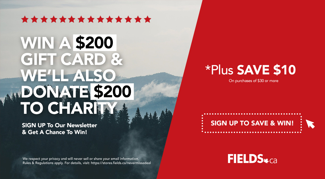 FIELDS Sign Up and Get $10 Off Coupon