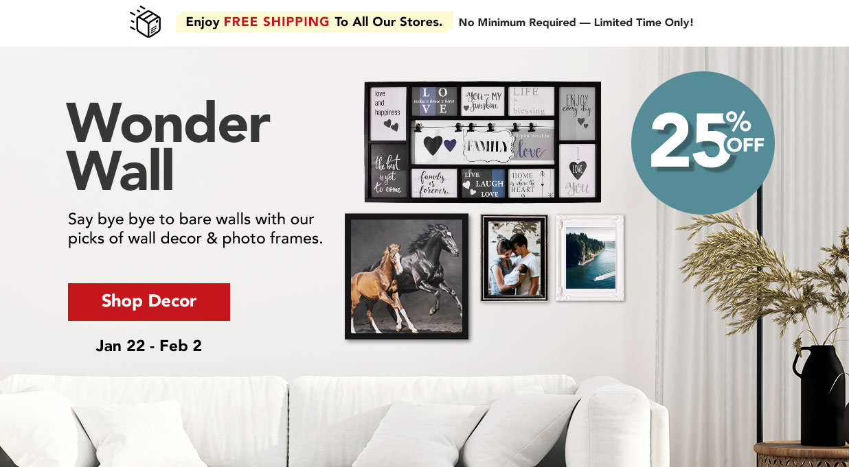 FIELDS 25% Off Wall Decor and Photo Frames Sale