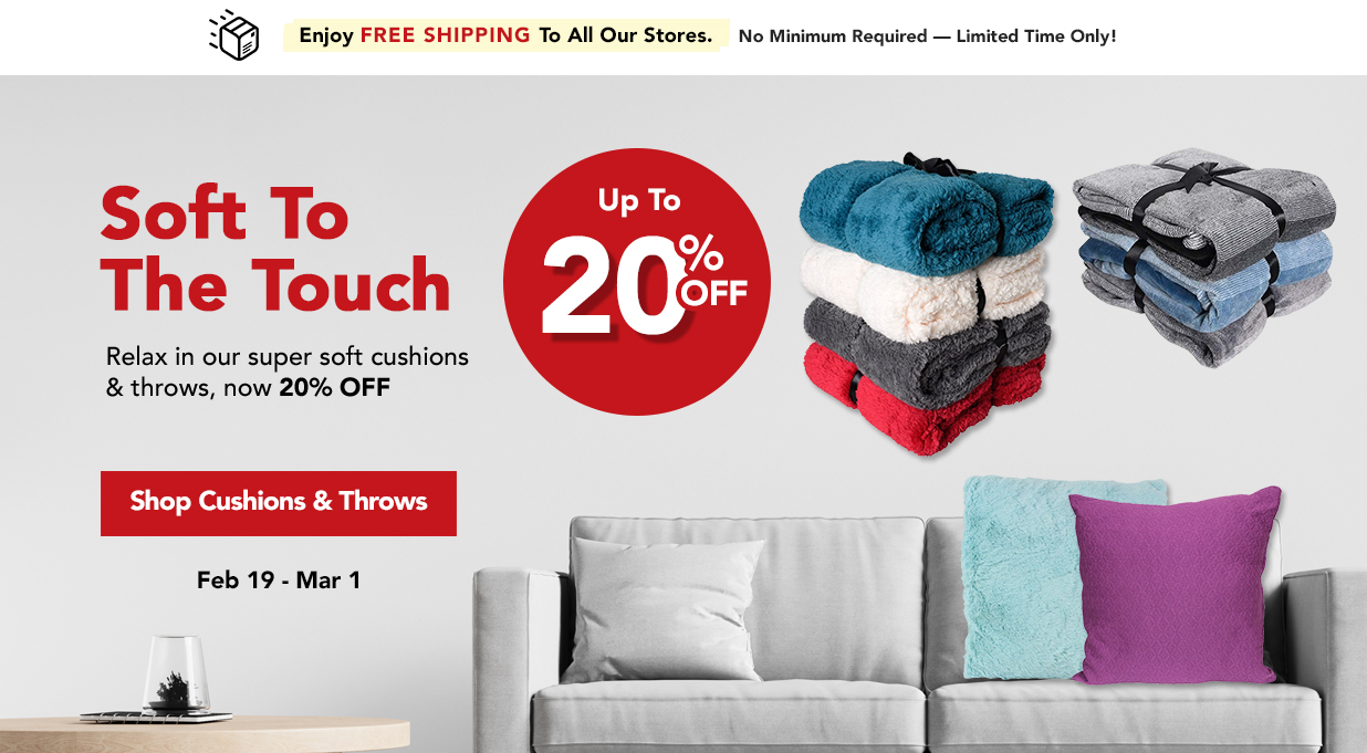 FIELDS 20% Off Cushions and Throws