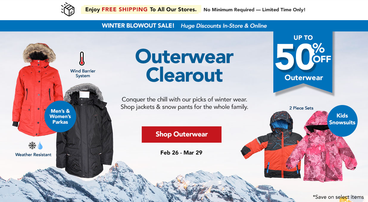 FIELDS Winter Fashion Sale Outerwear 50% Off