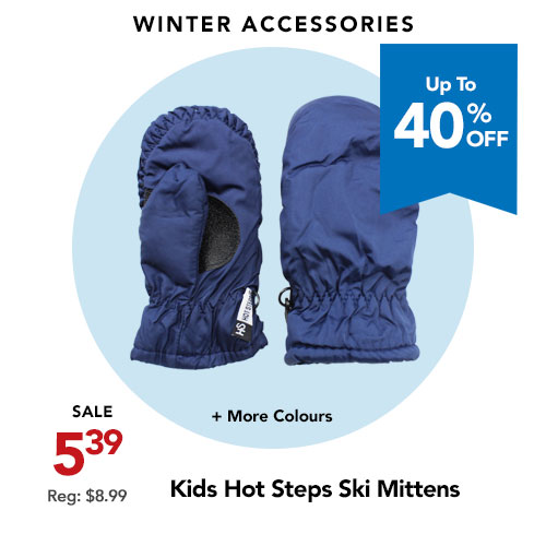 Hot Steps Ski Mittens For Kids