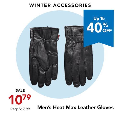 Heat Max Men's Leather Gloves