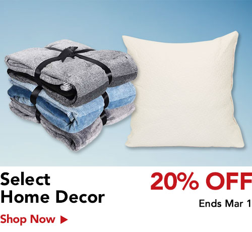 20% off home decor