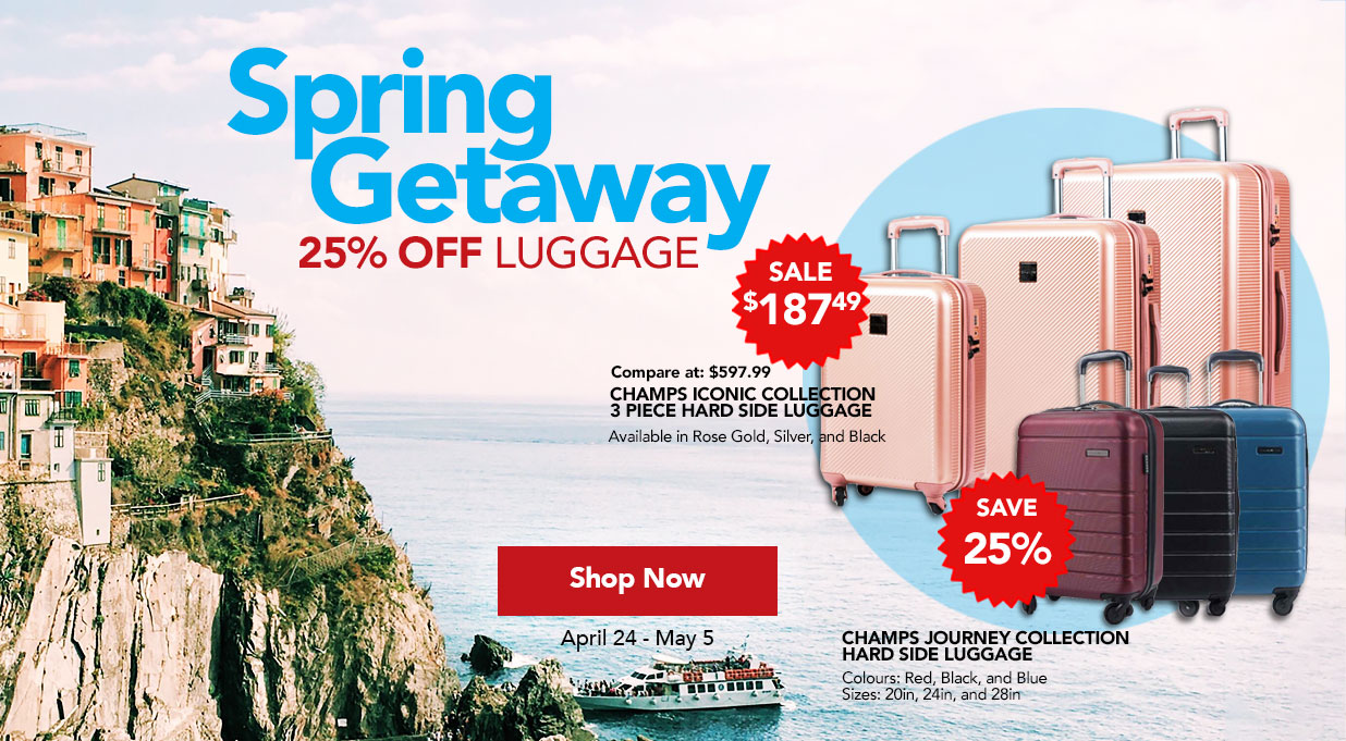 Save 25% off luggage FIELDS