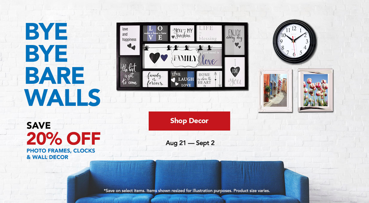 Save 20% Select Wall Decor