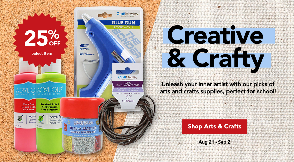 FIELDS Save 25% Art Craft Supplies