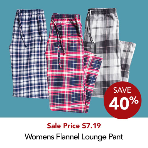 Lds flannel pants