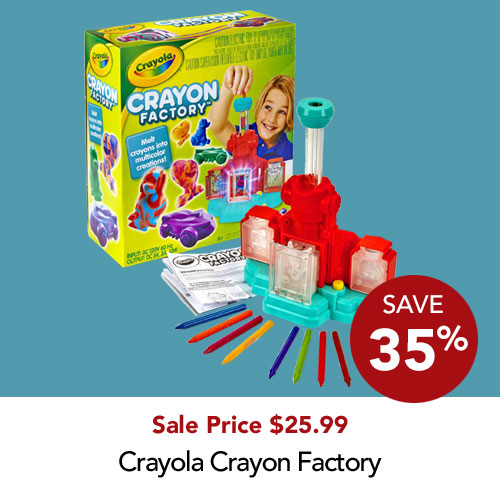 Save 35% Crayola Crayon Factory