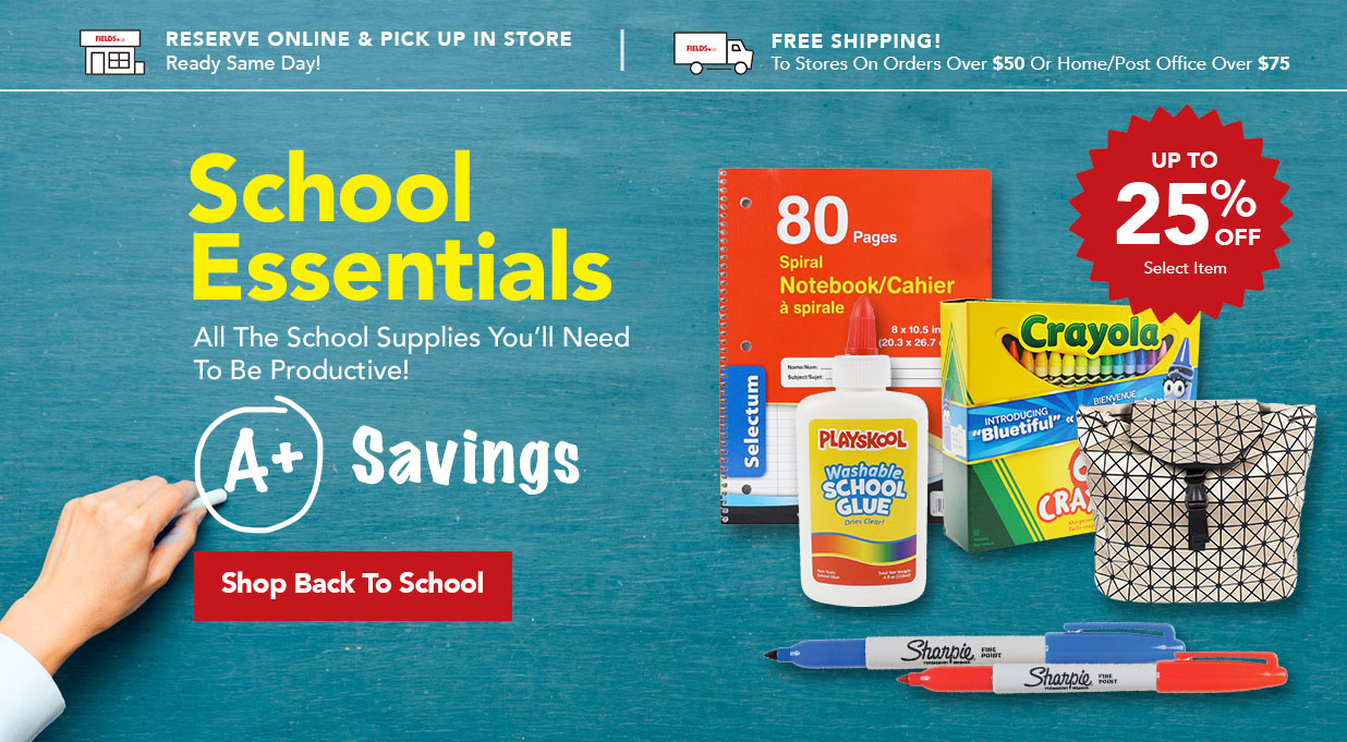 FIELDS Back To School Sale