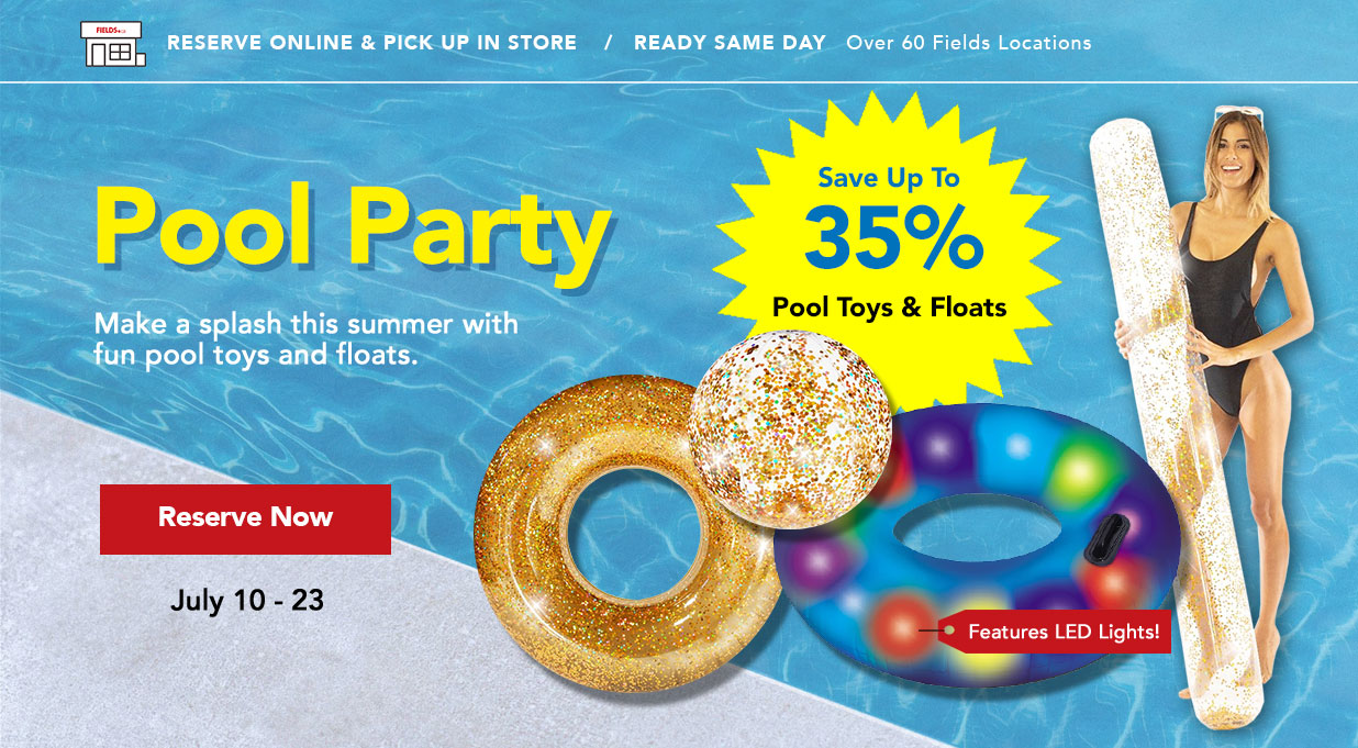 FIELDS Save 35% Pool Toys and Pool Floats