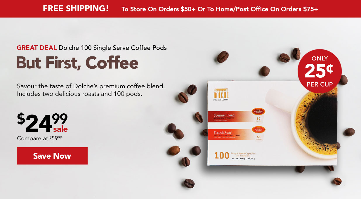 FIELDS Dolche Coffee 100 K-Cups Save $10