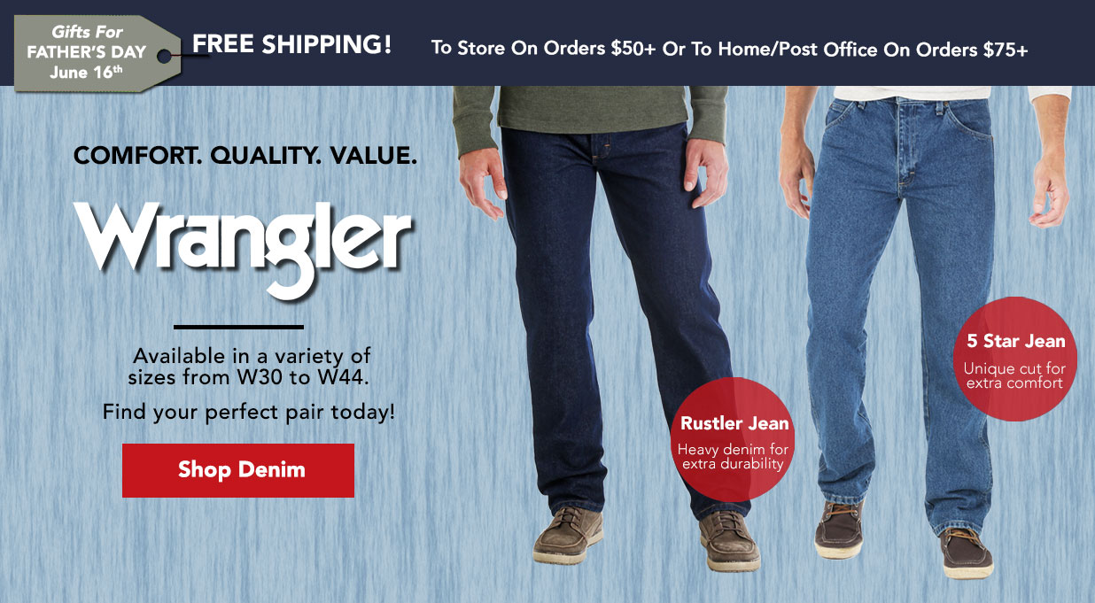 761f9d95c986 FIELDS Wrangler Jeans Great Price Fathers Day Gift